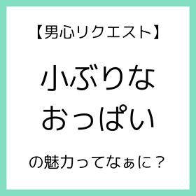 【男心リクエスト】小ぶりなおっぱいの魅力ってなぁに?